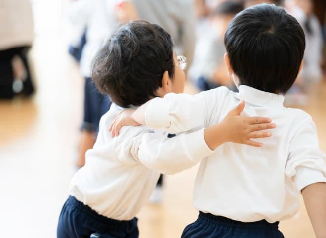 思いやりがあり友だちと楽しく遊べる子供