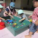 1歳児クラスの活動(8月)